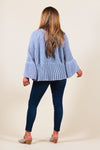 Chenille Bow Bell Sleeve Sweater