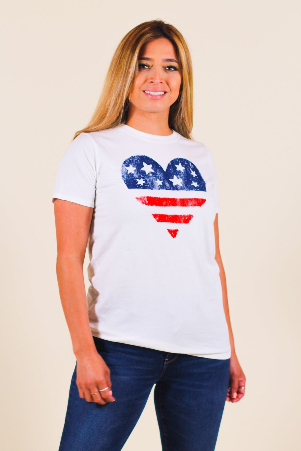Americana Heart Graphic Top