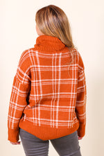 Cozy Plaid Turtleneck Sweater