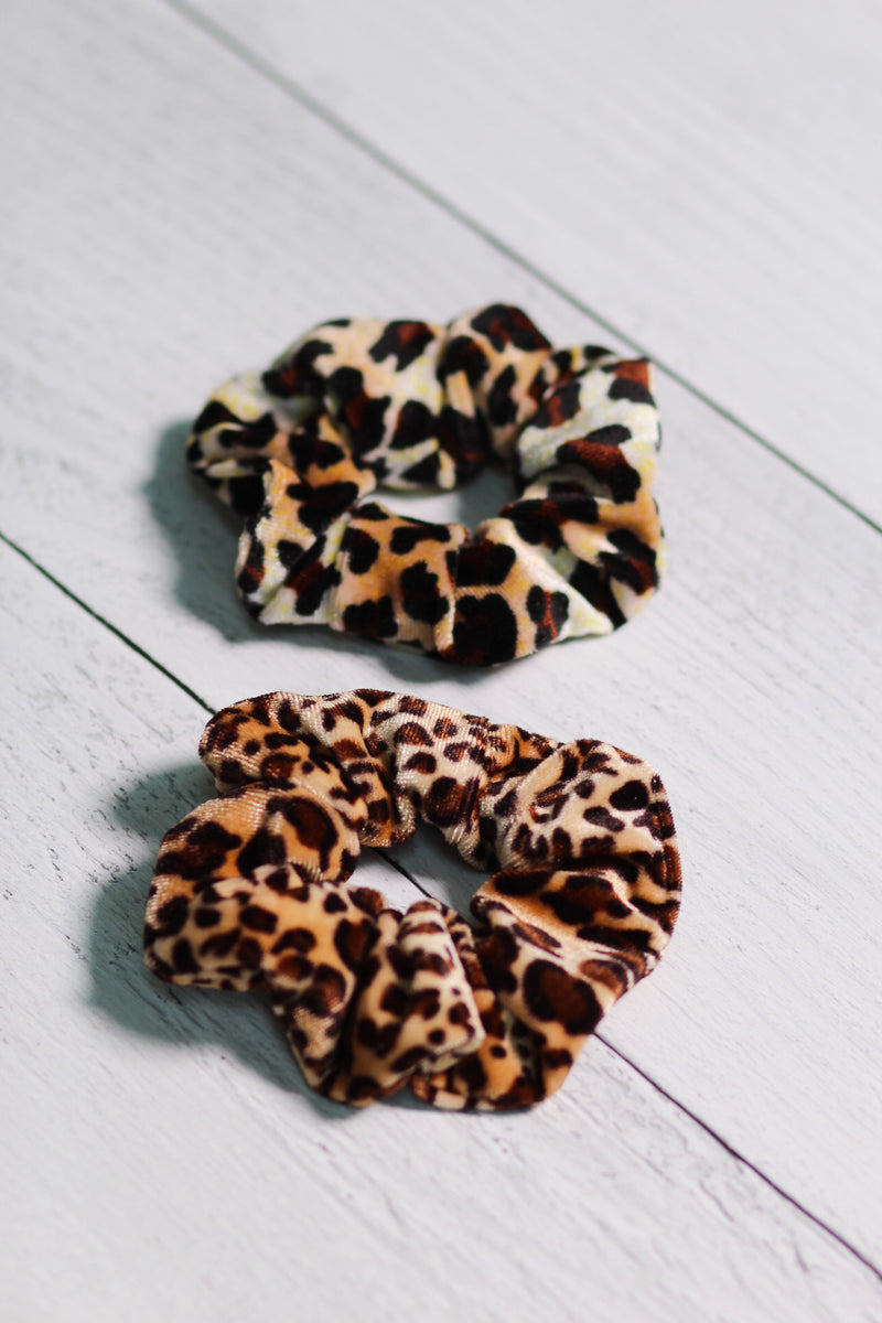 Animal Print Velvet Scrunchie