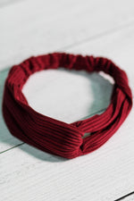 Ribbed Texture Knot Headband