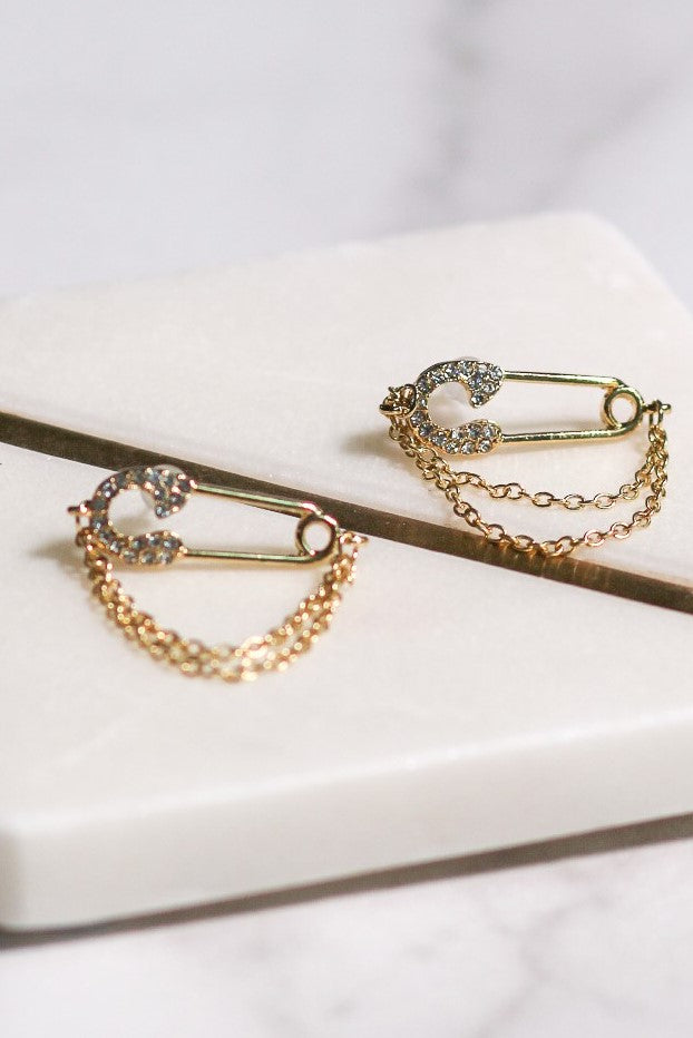 Pin Chain Earrings