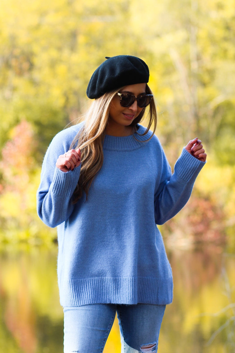 Oversized Scoop Neck Sweater