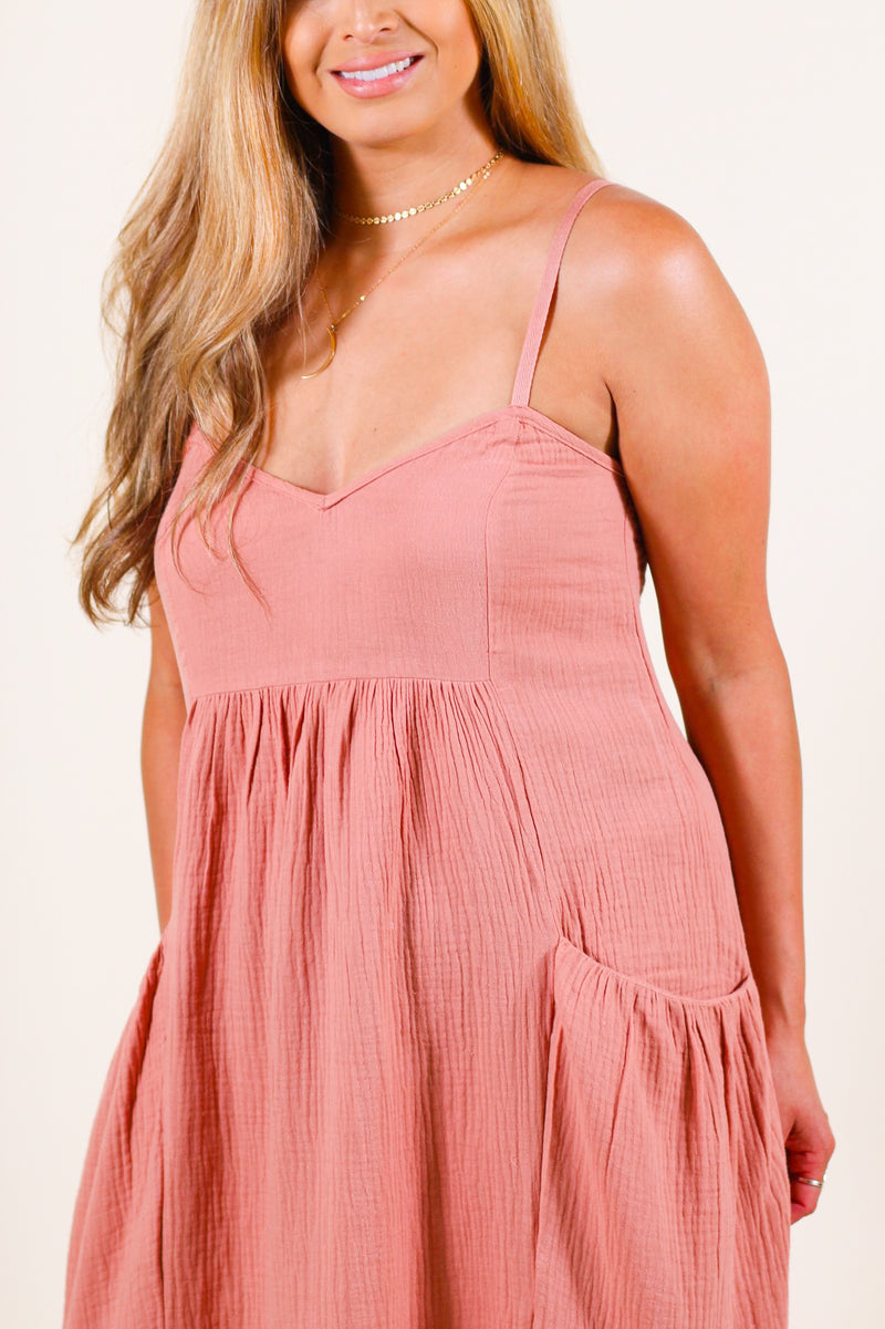 Tiered Midi Jumper Dress