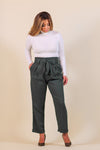 Self Tie Paperbag Trousers