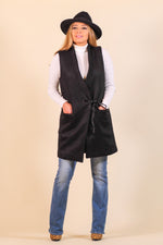 Long Shawl Collar Vest