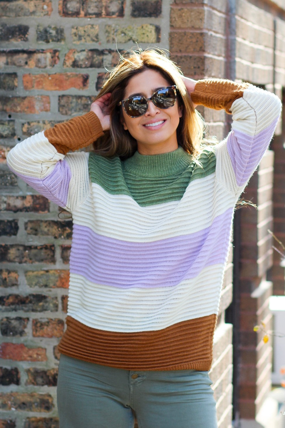 Color Block Love Sweater