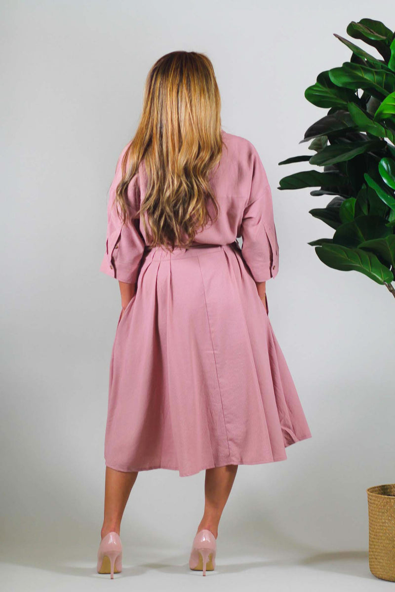 Lady Jane Button Down Midi Dress