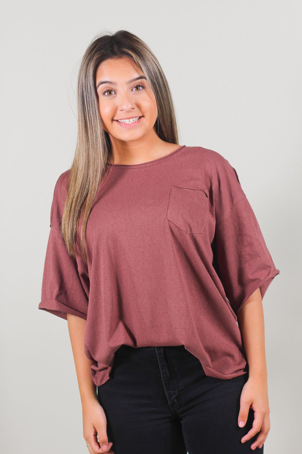 Over-sized Crop Knit Top