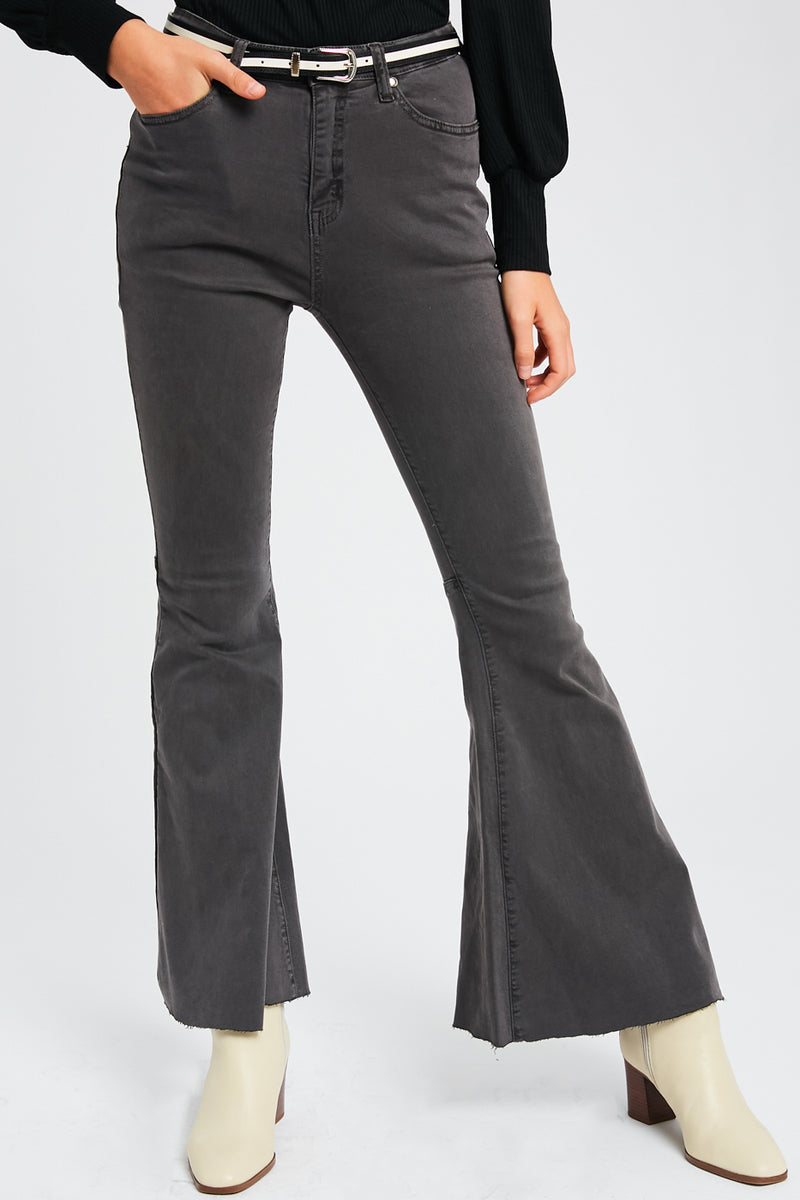 Stretch High Rise Flared Pants