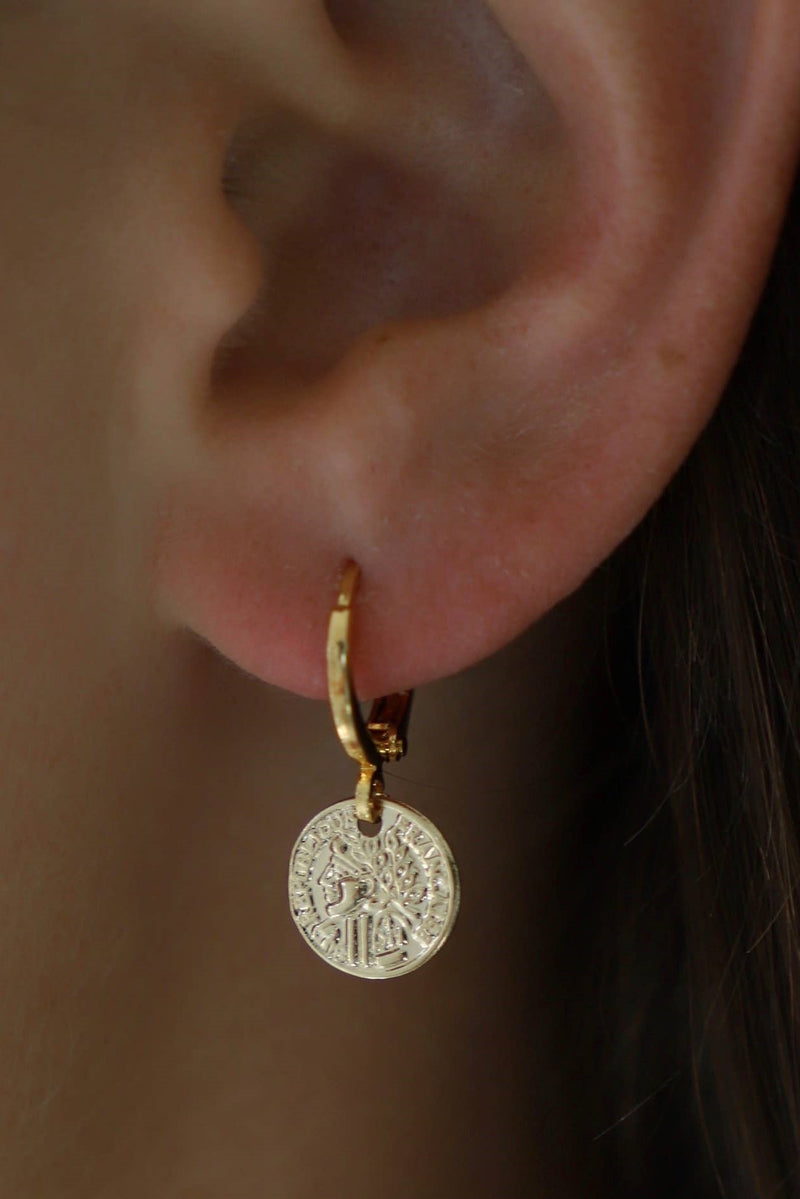 Coin Tiny Earrings