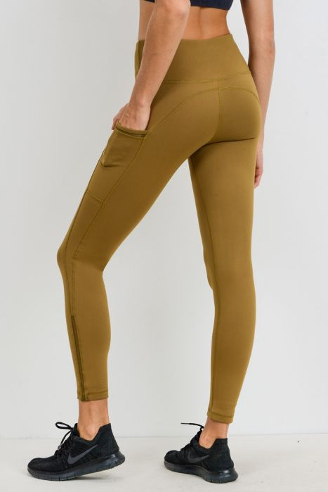 Highwaist Side-Mesh Slit Full Leggings