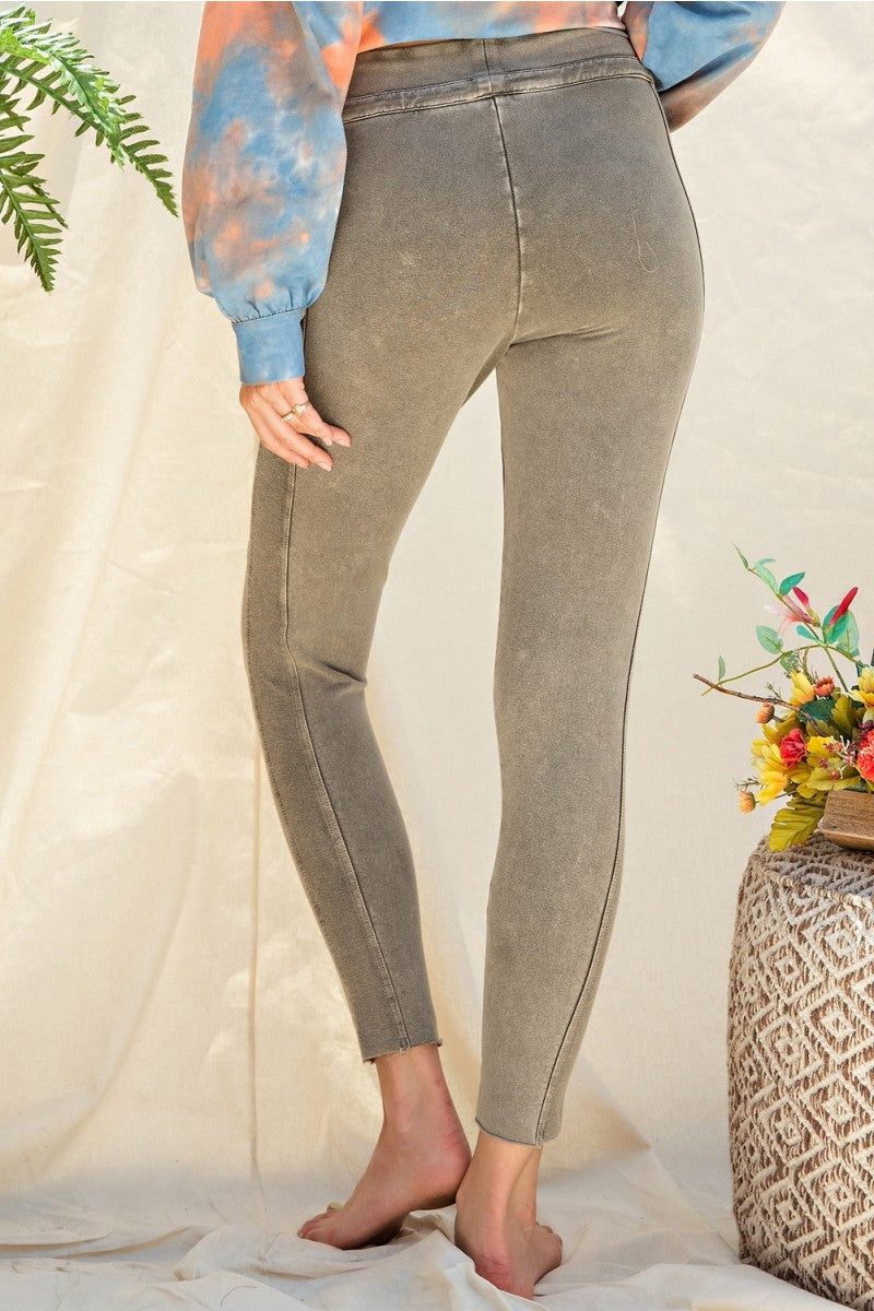 Washed Sweatpants Leggings
