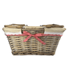 Red Market Basket With Handles