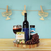 Kosher Wine, Cheese & Fruit Gift Basket