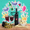 Purim Cookies & Wine Gift Basket, wine gift baskets, kosher gift baskets, gourmet gift baskets, gift baskets, Jewish holiday gift baskets, Purim gift baskets, Shabbat gift baskets, Passover gift baskets