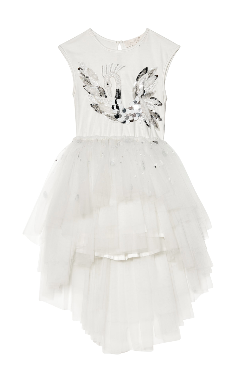 Tutu Du Monde CHERISHED SWAN TUTU DRESS in MILK