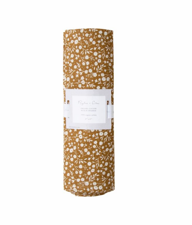 Rylee and Cru Organic Swaddle in Marigold