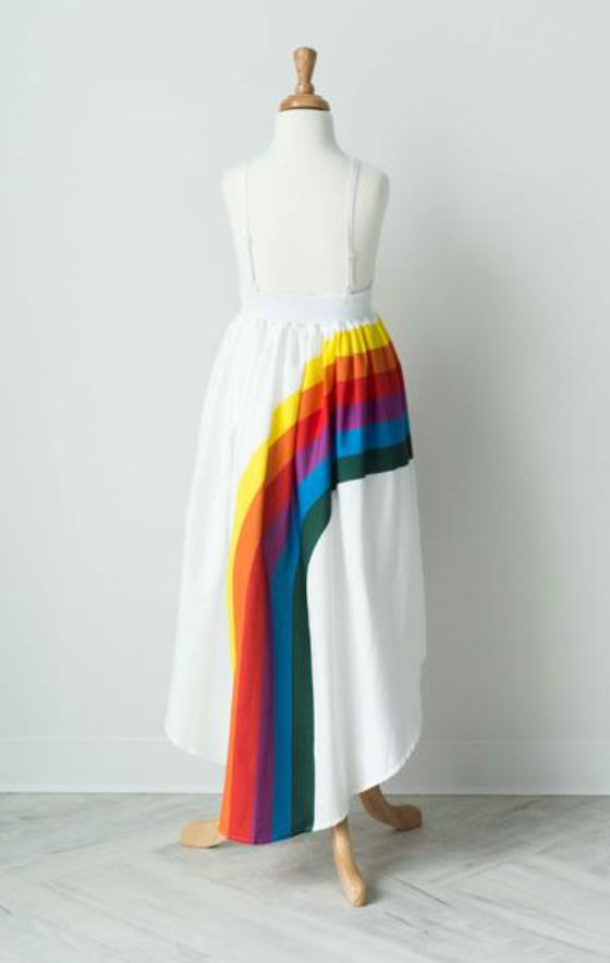 Pleiades Designs Rainbow Arc High Low Dress in Bold