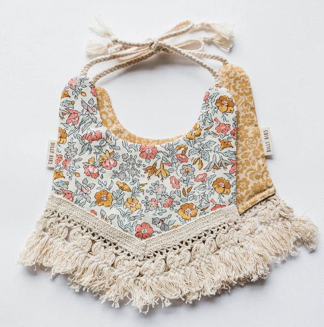 Close up of Billy Bibs Lily Bib for sale at Darling Loves.