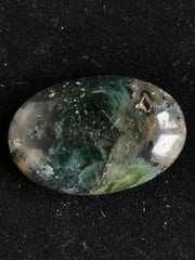 Beautiful Moss Agate Cabochon - 32.57 x 21.9 x 6.92mm Oval - Indonesia