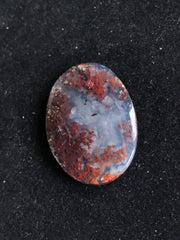 Beautiful Moss Agate Cabochon - 25.58 x 18.41 x 5.31mm Oval - Indonesia