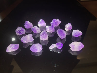 Amethyst Clusters from Madagascar - 113.2 grams - 15 crystals - 1/4 pound - Parcel - Wholesale
