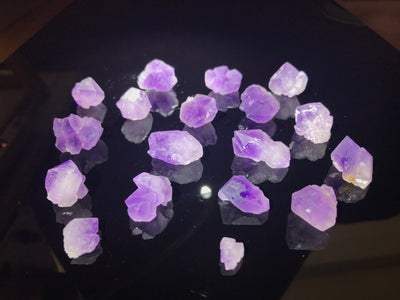 Amethyst Clusters from Madagascar - 112 grams - 17 crystals - 1/4 pound - Parcel - Wholesale