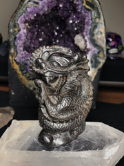Large Dragon Carved In Hematite