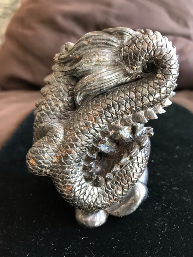 Dragon Carved In Hematite