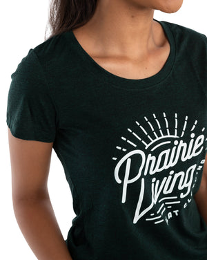 FLAT // Prairie Living / Fitted Crew Neck / Ladies