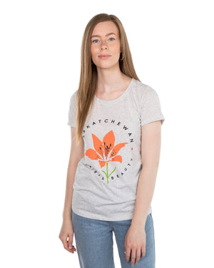 FLAT // Prairie Beauty / Fitted Crew Neck / Ladies