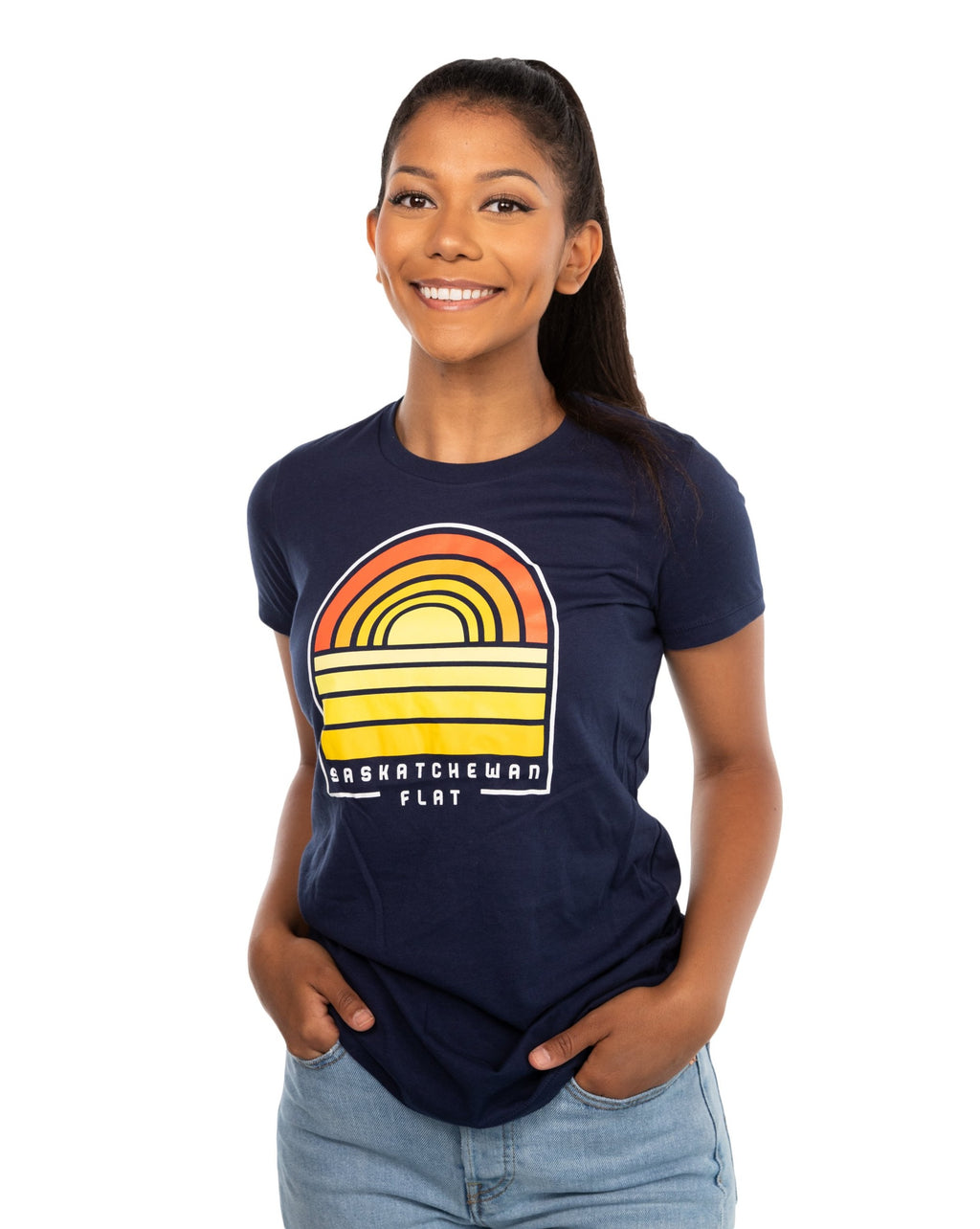 FLAT // Sask Sunset / Ladies T-Shirt