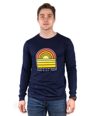 FLAT // Sask Sunset / Unisex / Long Sleeve