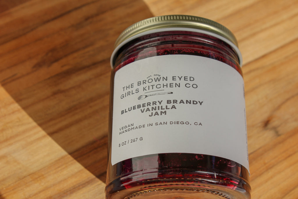 Blueberry Brandy Vanilla Jam, blueberry jam, jam with brandy, jam with vanilla, brandy, vanilla, blueberry