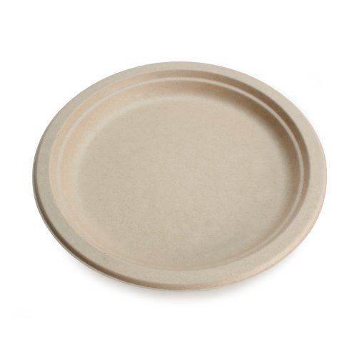 "Wheat Straw Fiber, Bagasse (Sugarcane) 9"" Round Plate, 500/Case"