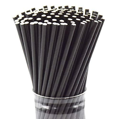 "Dye Free, 250 Straws Bulk, Solid Color, 7.87""x0.24"" (200mmx6mm)"