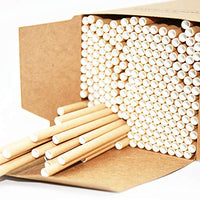 "Dye Free, 250 Straws Bulk, Natural Brown Kraft Paper, 7.75""x0.24"" (197mmx6mm)"