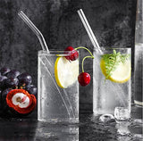 "10"" x 10 mm Long Reusable Glass Drinking Straws for Smoothie"
