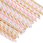 Biodegradable party paper straws