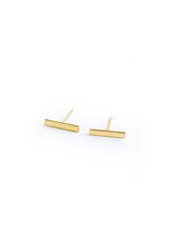 Mini Bar Earrings Brass