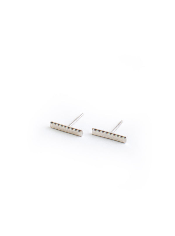 Mini Bar Earrings Silver