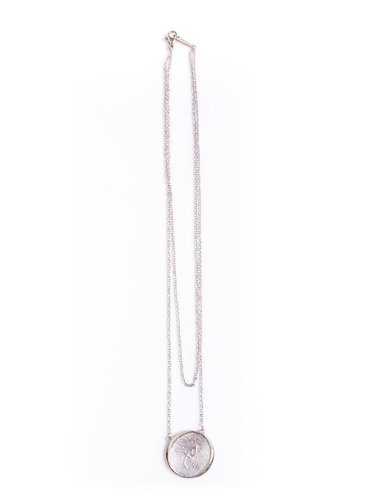 Kim XO Necklace Silver