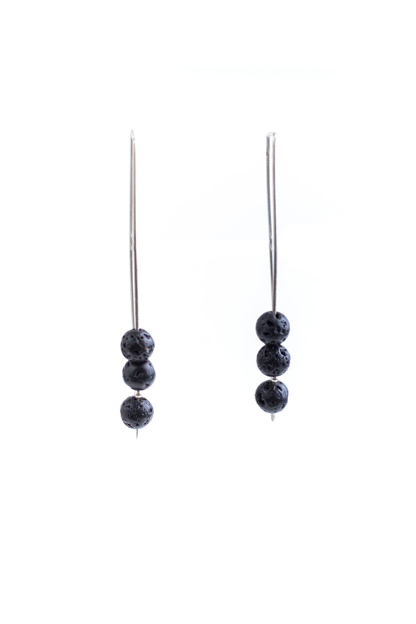 Lava Stone Dangle Earrings