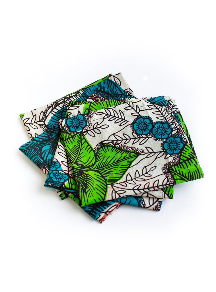Blue and Green Cotton Napkins