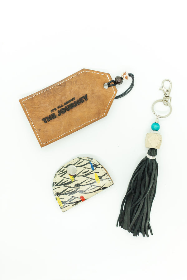 Black Tassel Key Chain