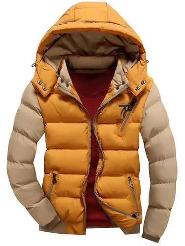 Stylish Winter Coat Puffer Jacket with Detachable Hood