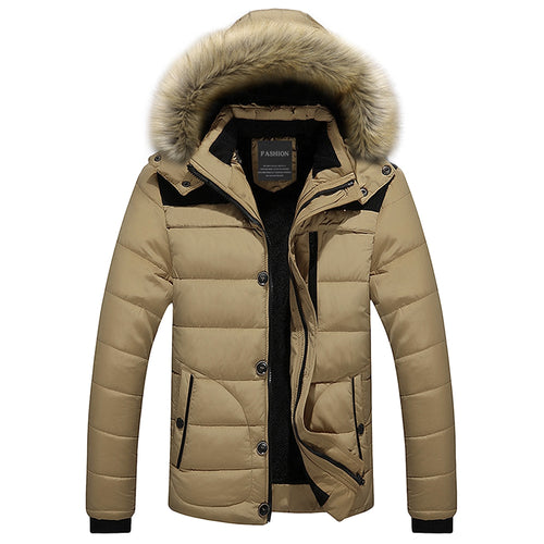 Fur Trim Hooded Puffer Jacket