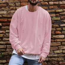 Load image into Gallery viewer, Long Sleeve Casual Men Sweatshirt Hoodies Round Neck Loose Pull Over