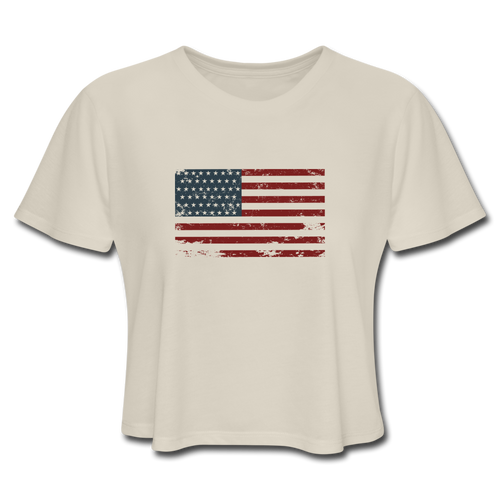 USA Flag Crop Top - Dust